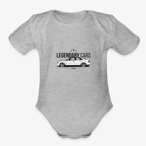 Legendary cars audi - Organic Short Sleeve Baby Bodysuit
