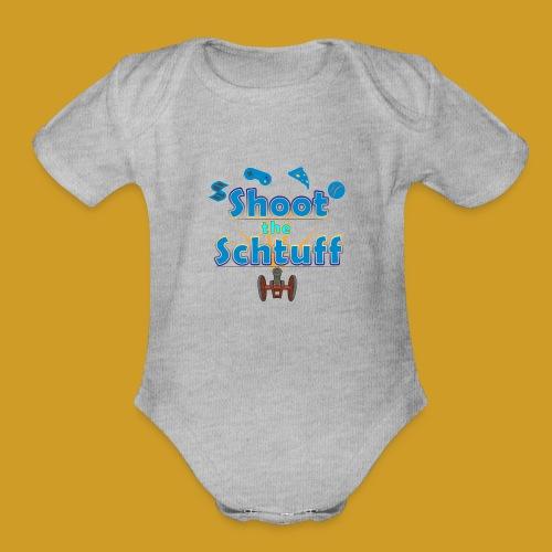 Official Shoot The Schtuff Logo - Organic Short Sleeve Baby Bodysuit