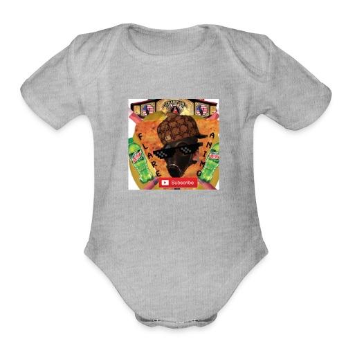 FlareAnimo | Official Logo - Organic Short Sleeve Baby Bodysuit