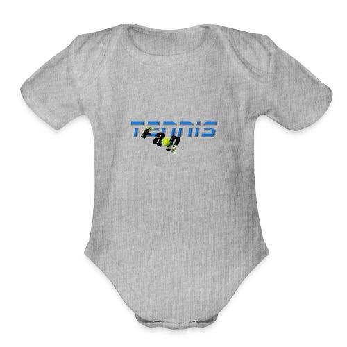 Tennis Fan - Organic Short Sleeve Baby Bodysuit