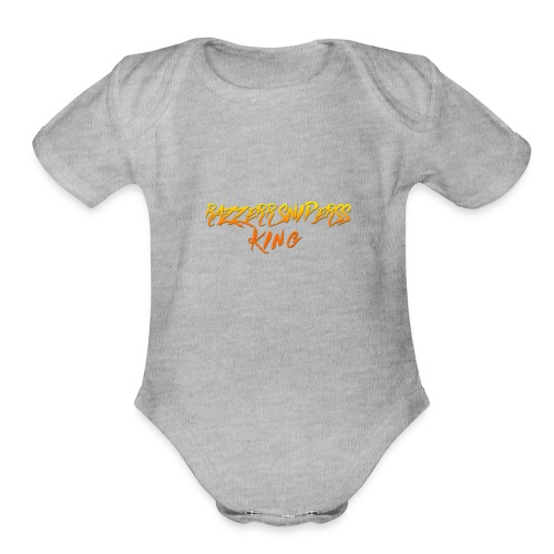 the king of Razzerr sniperss king - Organic Short Sleeve Baby Bodysuit