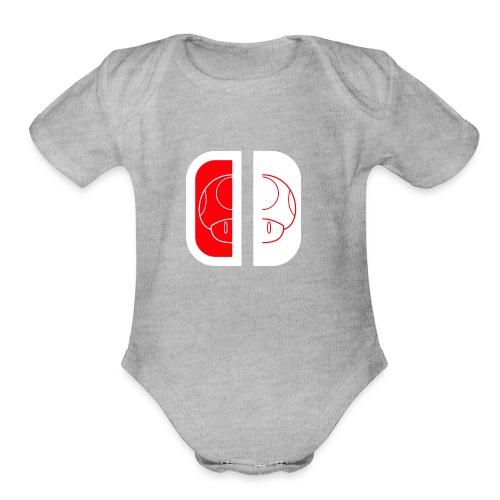 Nintendo Switch Mario Shroom - Organic Short Sleeve Baby Bodysuit