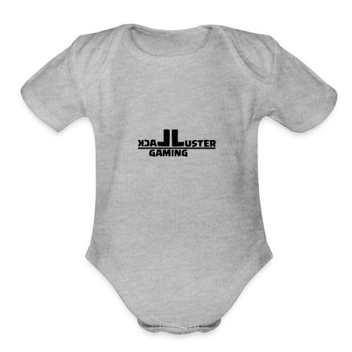 LackLuster Gaming Cut Logo - Organic Short Sleeve Baby Bodysuit
