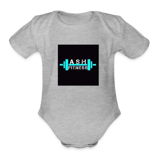 ASH FITNESS ACCESSORIES - Organic Short Sleeve Baby Bodysuit