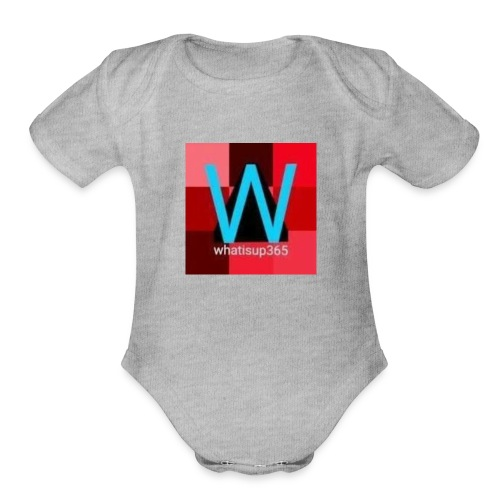 Whatisup365's logo 2014-2015 - Organic Short Sleeve Baby Bodysuit