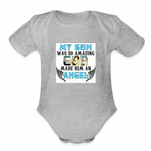 Angel Son - Organic Short Sleeve Baby Bodysuit