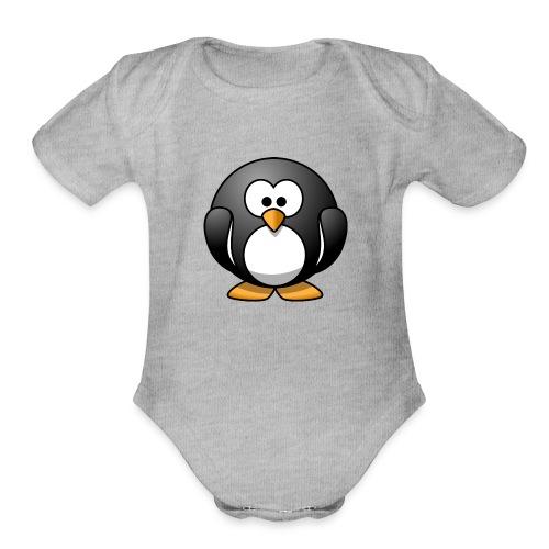 Funny Penguin T-Shirt - Organic Short Sleeve Baby Bodysuit