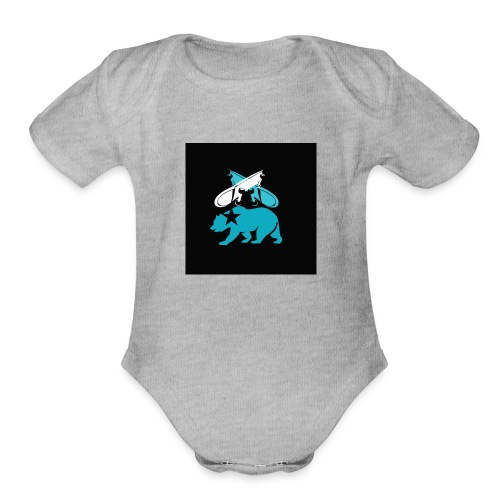 skateboard design - Organic Short Sleeve Baby Bodysuit