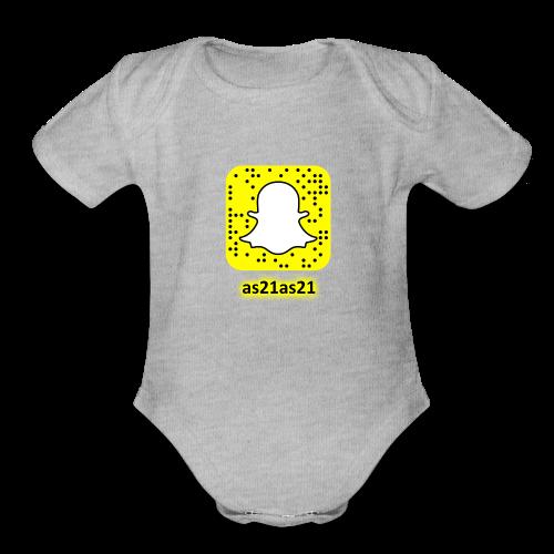 Alden's Snapchat - Organic Short Sleeve Baby Bodysuit