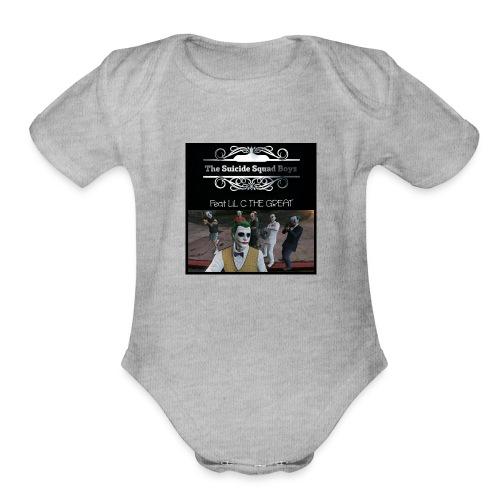 Suicide Squad Boyz crew t shirt with crew pic - Organic Short Sleeve Baby Bodysuit