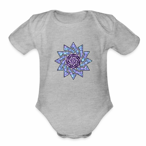 Spirit star - Organic Short Sleeve Baby Bodysuit