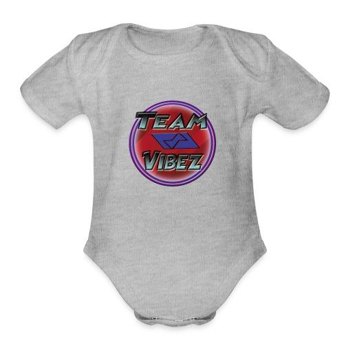 Team Vibez Stuff Test - Organic Short Sleeve Baby Bodysuit