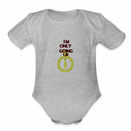 Im only going up - Organic Short Sleeve Baby Bodysuit