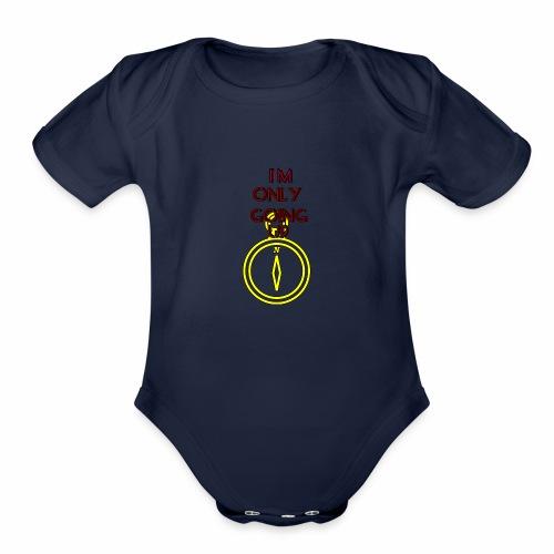 Im only going up - Organic Short Sleeve Baby Bodysuit
