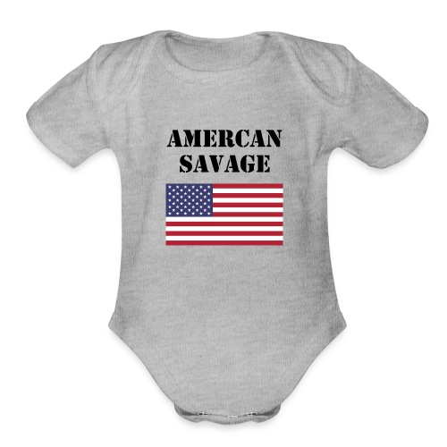 American Savage Shirt - Organic Short Sleeve Baby Bodysuit