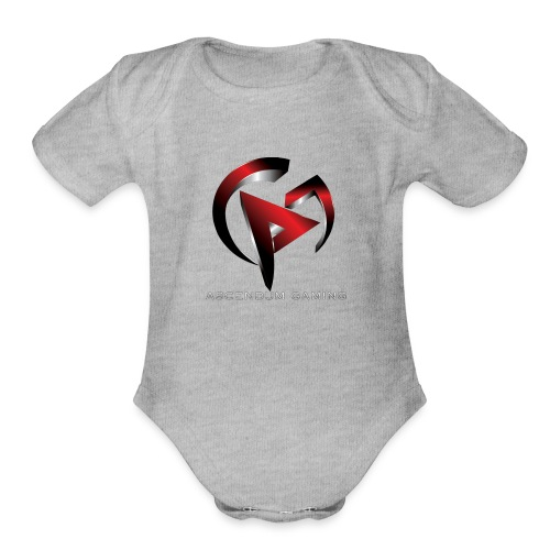 Ascendum Gaming Logo - Organic Short Sleeve Baby Bodysuit