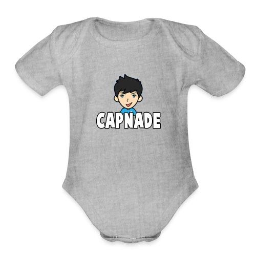 Basic Capnade's Products - Organic Short Sleeve Baby Bodysuit