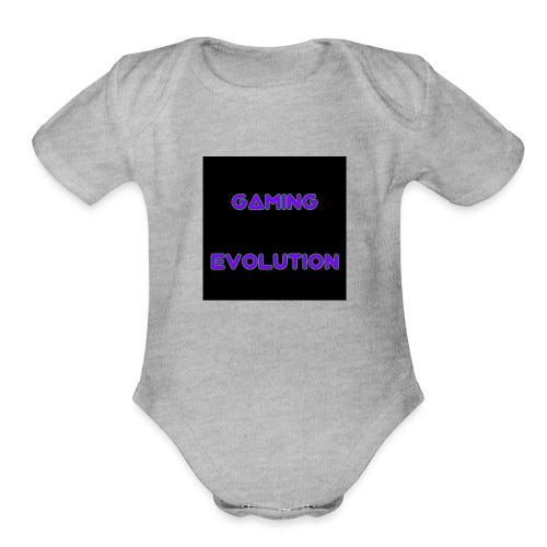 Ice black - Organic Short Sleeve Baby Bodysuit