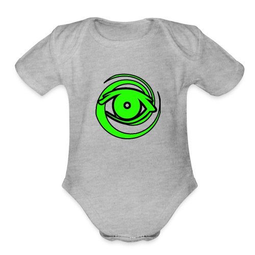 Astro Photography Tutorials Logo - Organic Short Sleeve Baby Bodysuit