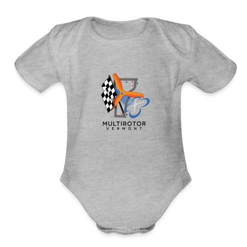 Multirotor Vermont (black text) - Organic Short Sleeve Baby Bodysuit