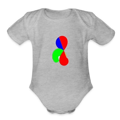 design 32 #2 - Organic Short Sleeve Baby Bodysuit