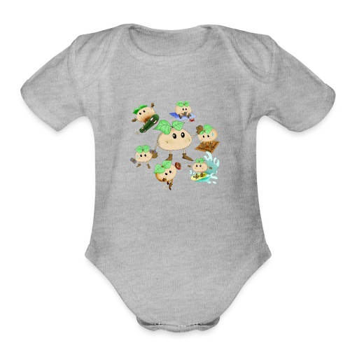 Spudy collection - Organic Short Sleeve Baby Bodysuit
