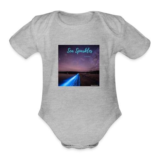 Tasmanian Sea Sparkles - Organic Short Sleeve Baby Bodysuit