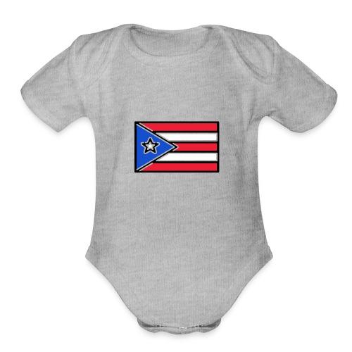 Puerto Rico - Organic Short Sleeve Baby Bodysuit