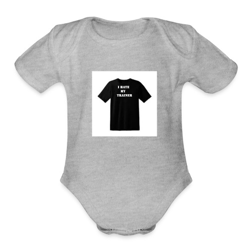FRONT - Organic Short Sleeve Baby Bodysuit
