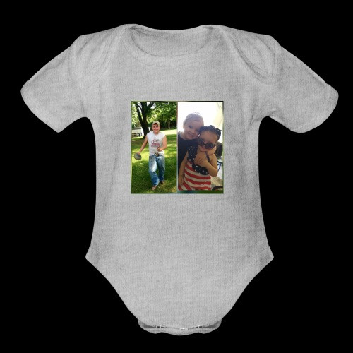 Uncle Jamie and Jo & Harleigh - Organic Short Sleeve Baby Bodysuit