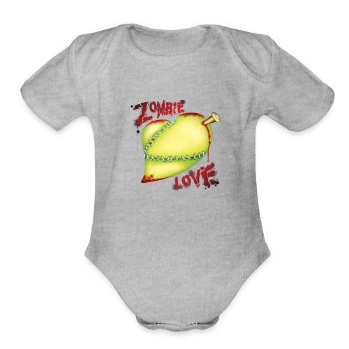 Zombie Love T Shirt - Organic Short Sleeve Baby Bodysuit