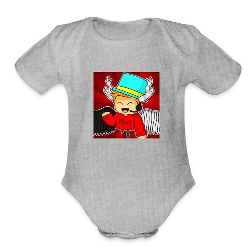 MarsPlayz Logo Merch - Organic Short Sleeve Baby Bodysuit