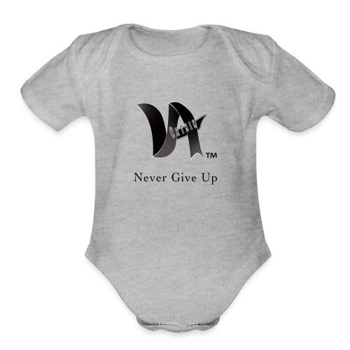 Never Give Up - Organic Short Sleeve Baby Bodysuit