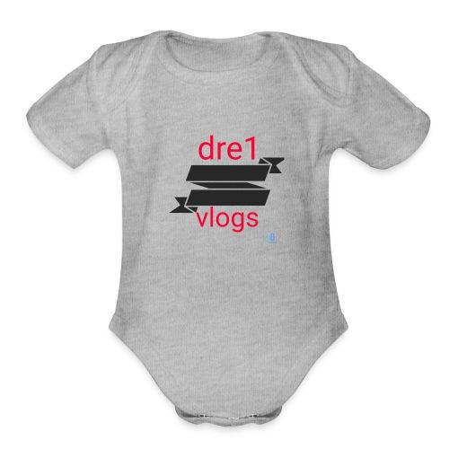 Dre1 vlogs - Organic Short Sleeve Baby Bodysuit