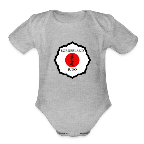 Borderland Judo Crest - Large - Organic Short Sleeve Baby Bodysuit