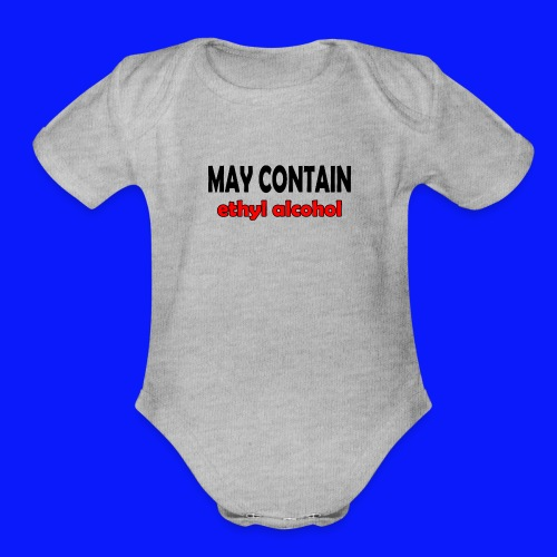 alcohol Funny T-shirt - Organic Short Sleeve Baby Bodysuit