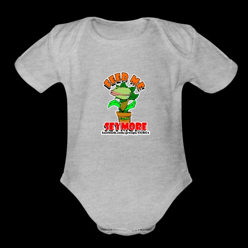 FEED ME SEYMORE - Organic Short Sleeve Baby Bodysuit