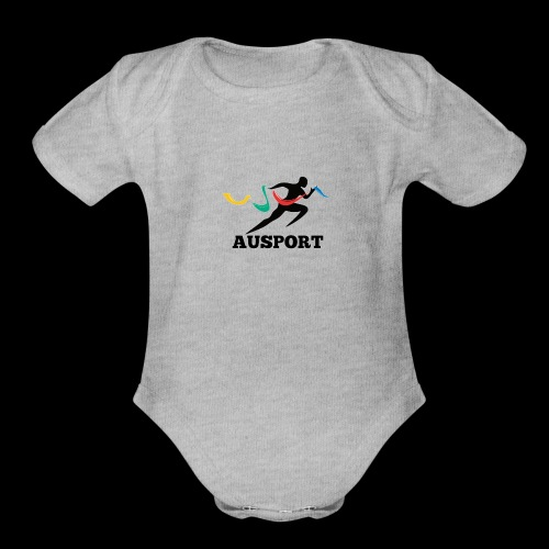 AUSPORT - Organic Short Sleeve Baby Bodysuit
