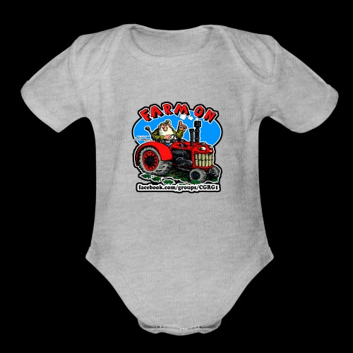 Mr Natural Farm On - Organic Short Sleeve Baby Bodysuit