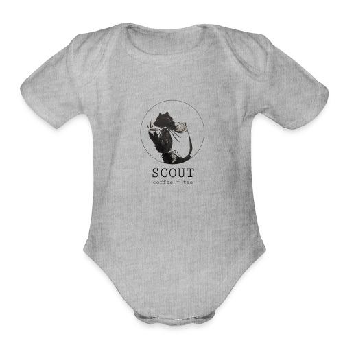 Bear Logo - Organic Short Sleeve Baby Bodysuit
