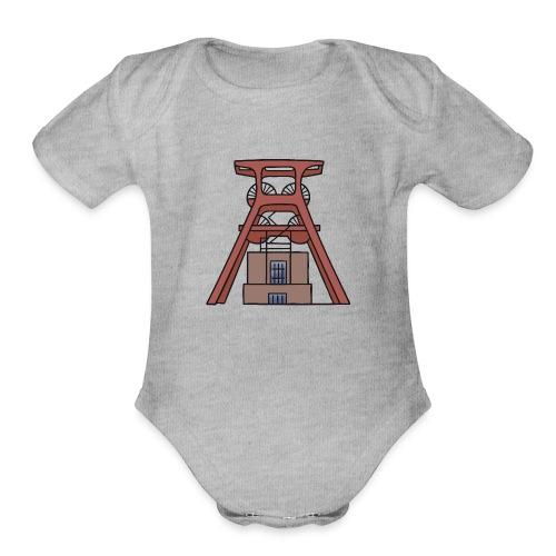 Zollverein Coal Mine Industrial Complex in Essen - Organic Short Sleeve Baby Bodysuit