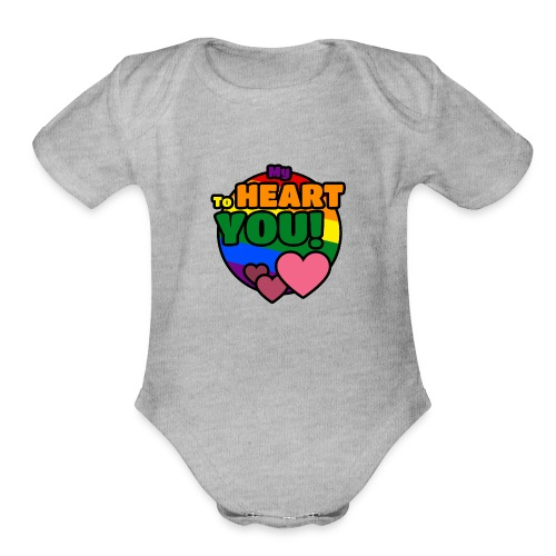 My Heart To You! I love you - printed clothes - Organic Short Sleeve Baby Bodysuit