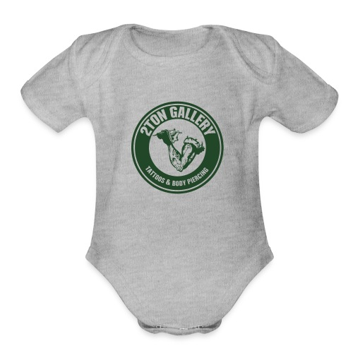 blackout - Organic Short Sleeve Baby Bodysuit