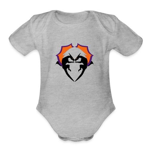Dragon Love - Organic Short Sleeve Baby Bodysuit