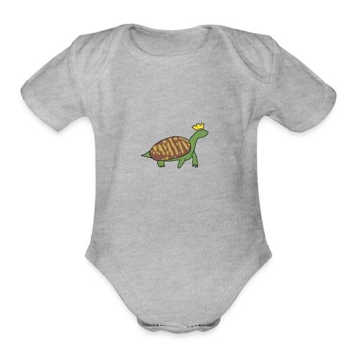 TurtleKing777 - Organic Short Sleeve Baby Bodysuit