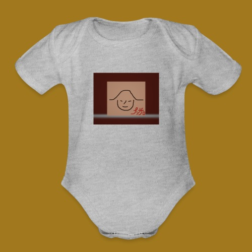 the oriental - Organic Short Sleeve Baby Bodysuit