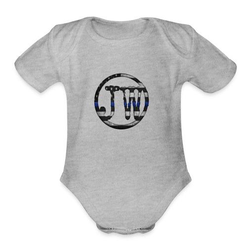 Jacob white - Organic Short Sleeve Baby Bodysuit