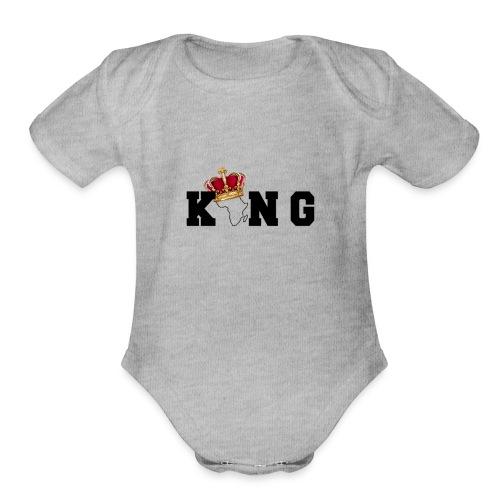 Black King - Organic Short Sleeve Baby Bodysuit