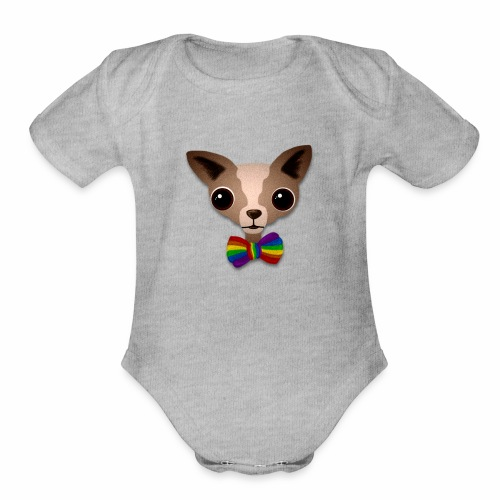 Chihuahua Pride - Organic Short Sleeve Baby Bodysuit