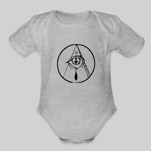 occult eye - Organic Short Sleeve Baby Bodysuit